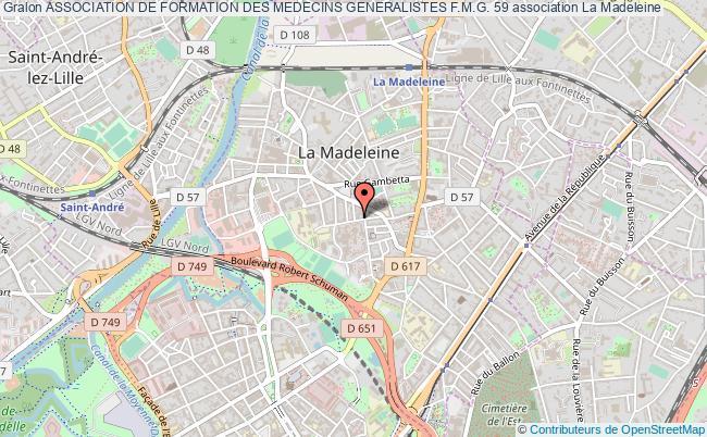 plan association Association De Formation Des Medecins Generalistes F.m.g. 59 La    Madeleine