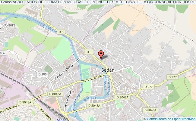 plan association Association De Formation Medicale Continue Des Medecins De La Circonscription Hospitaliere De Sedan