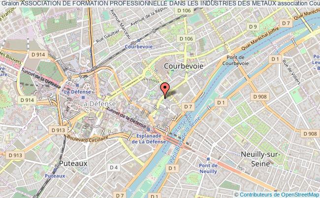 plan association Association De Formation Professionnelle Dans Les Industries Des Metaux Courbevoie