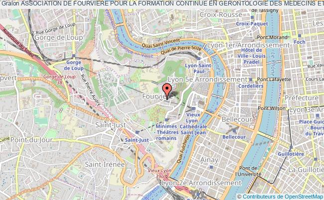 plan association Association De Fourviere Pour La Formation Continue En Gerontologie Des Medecins Et Professionnels De Sante