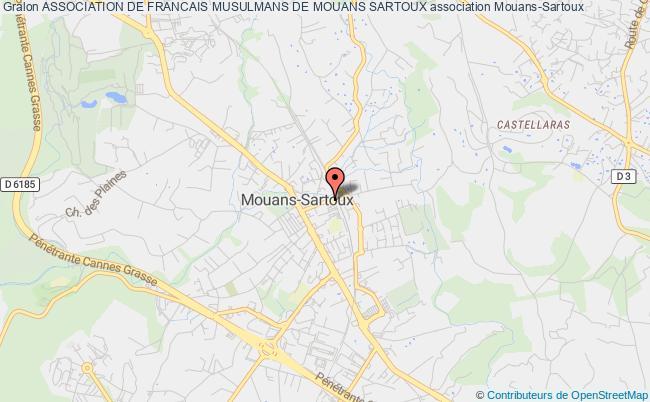 plan association Association De Francais Musulmans De Mouans Sartoux Mouans-Sartoux