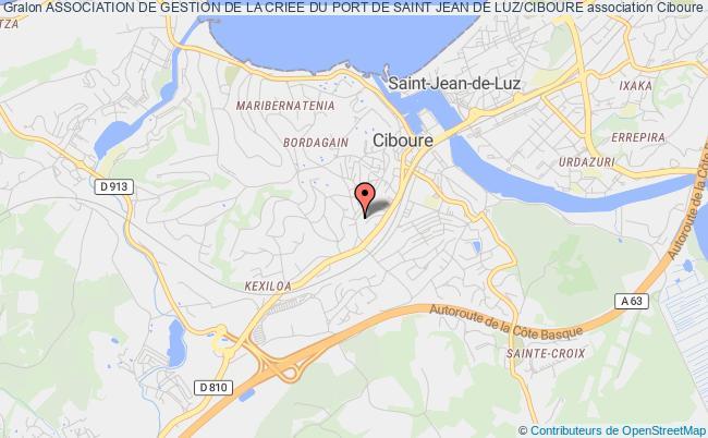 plan association Association De Gestion De La Criee Du Port De Saint Jean De Luz/ciboure