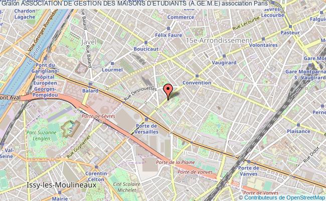 plan association Association De Gestion Des Maisons D'etudiants (a.ge.m.e) Paris 15e