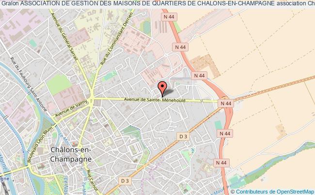 plan association Association De Gestion Des Maisons De Quartiers De Chalons-en-champagne