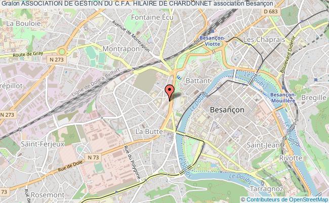 plan association Association De Gestion Du C.f.a. Hilaire De Chardonnet Besançon