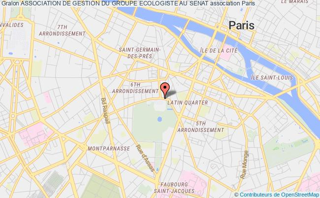 plan association Association De Gestion Du Groupe Ecologiste Au Senat Paris