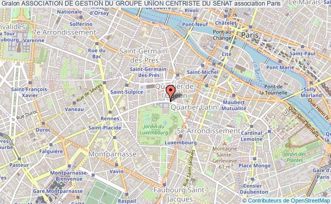 plan association Association De Gestion Du Groupe Union Centriste Du SÉnat Paris cédex 06