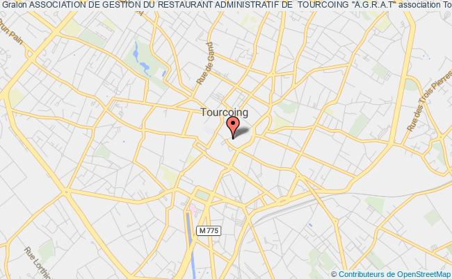 """plan association Association De Gestion Du Restaurant Administratif De  Tourcoing """"a.g.r.a.t"""""""