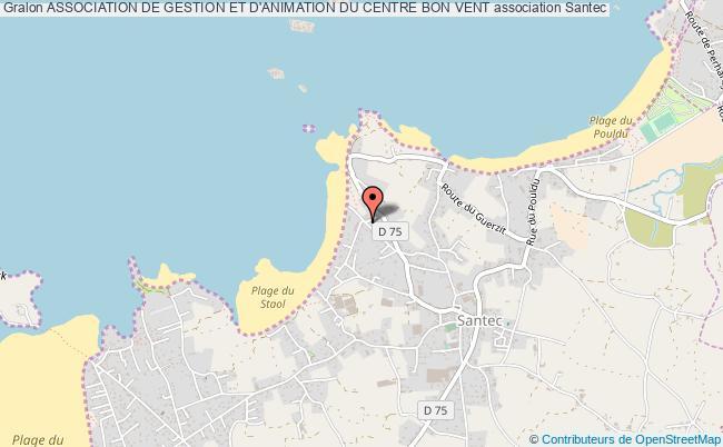 plan association Association De Gestion Et D'animation Du Centre Bon Vent Santec