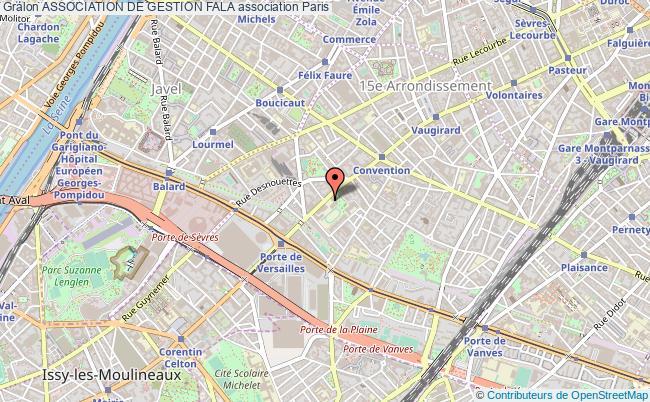 plan association Association De Gestion Fala Paris