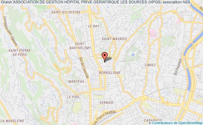 plan association Association De Gestion HÔpital Prive GÉriatrique Les Sources (hpgs) Nice