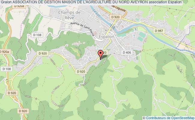 plan association Association De Gestion Maison De L'agriculture Du Nord Aveyron