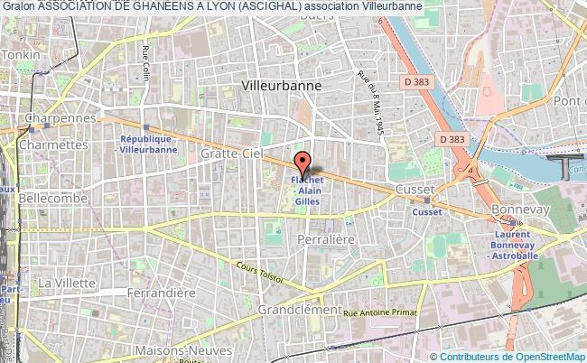 plan association Association De GhanÉens A Lyon (ascighal)