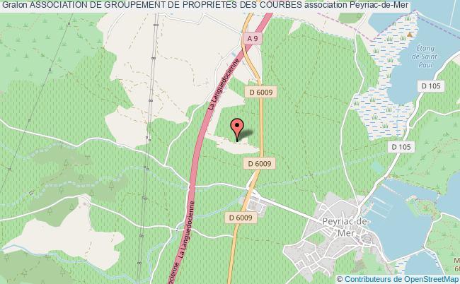 plan association Association De Groupement De Proprietes Des Courbes Peyriac-de-Mer