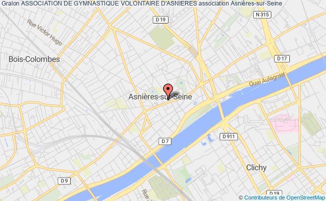plan association Association De Gymnastique Volontaire D'asnieres Asnières-sur-Seine