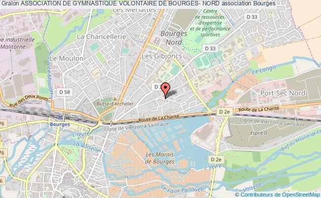 plan association Association De Gymnastique Volontaire De Bourges- Nord Bourges