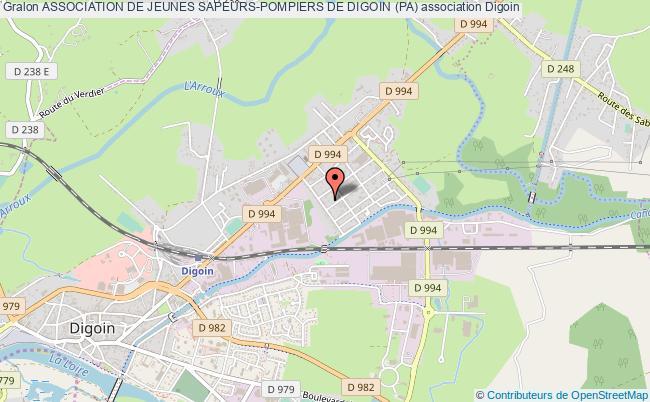plan association Association De Jeunes Sapeurs-pompiers De Digoin (pa) Digoin