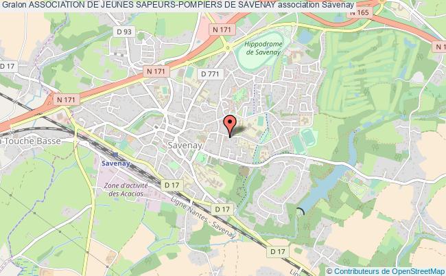 plan association Association De Jeunes Sapeurs-pompiers De Savenay