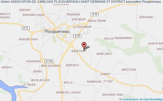 plan association Association De Jumelage Plouguerneau-saint Germans Et District Plouguerneau