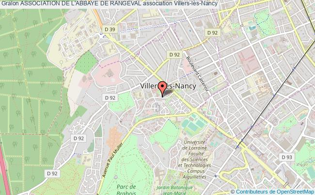 plan association Association De L'abbaye De Rangeval