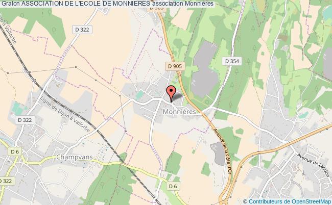 plan association Association De L'ecole De Monnieres Monnières