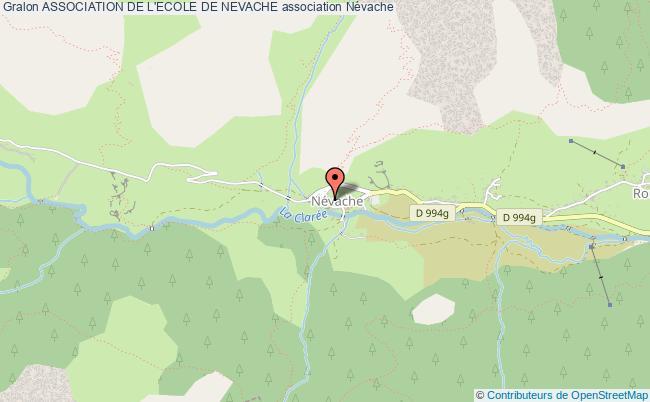 plan association Association De L'ecole De Nevache