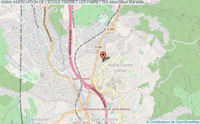 plan association Association De L'ecole Freinet Les Fabrettes Marseille