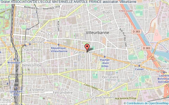 plan association Association De L'ecole Maternelle Anatole France