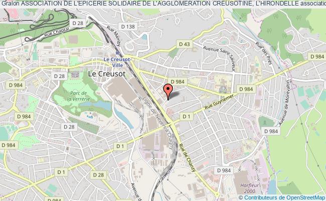 plan association Association De L'epicerie Solidaire De L'agglomeration Creusotine, L'hirondelle
