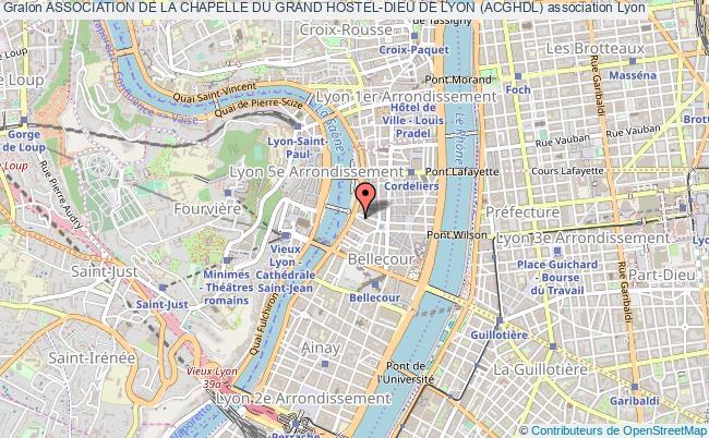 plan association Association De La Chapelle Du Grand Hostel-dieu De Lyon (acghdl)