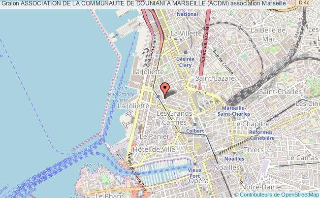 plan association Association De La Communaute De Douniani A Marseille (acdm)