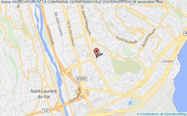 plan association Association De La Compagnie Departementale D'intervention 06 Nice