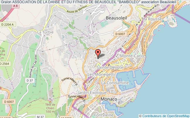 plan association Association De La Danse Et Du Fitness De Beausoleil ''bambolÉo''
