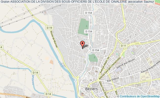 plan association Association De La Division Des Sous-officiers De L'École De Cavalerie Saumur Cédex