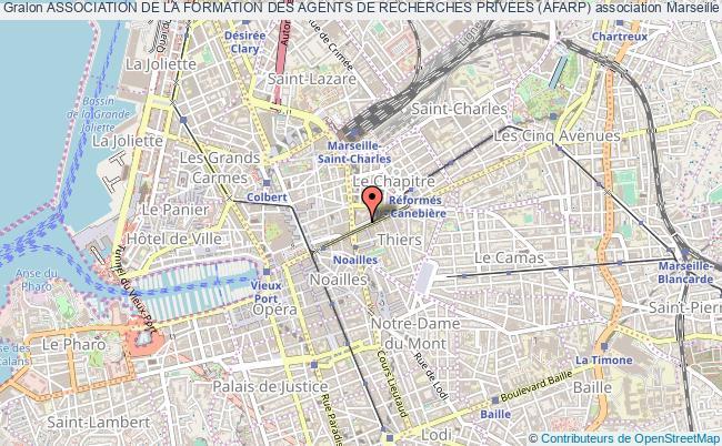 plan association Association De La Formation Des Agents De Recherches Privees (afarp) Marseille