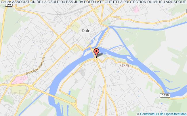 plan association Association De La Gaule Du Bas Jura Pour La Peche Et La Protection Du Milieu Aquatique Dole