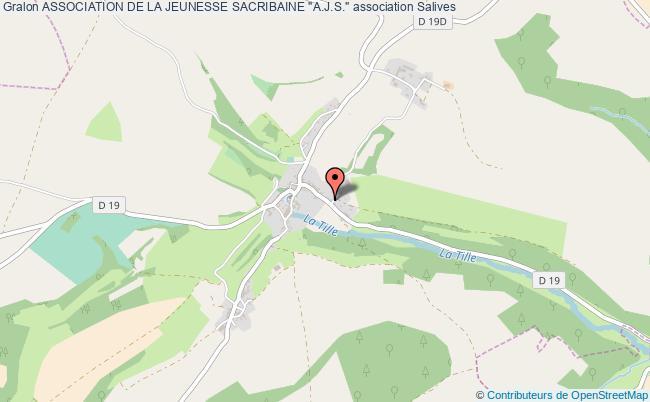 "plan association Association De La Jeunesse Sacribaine ""a.j.s."" Salives"