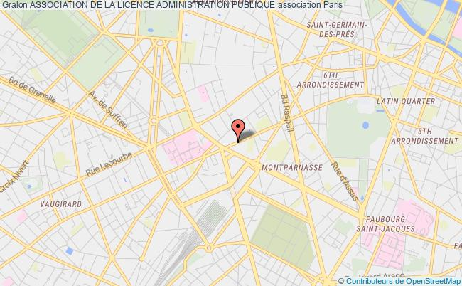 plan association Association De La Licence Administration Publique Paris