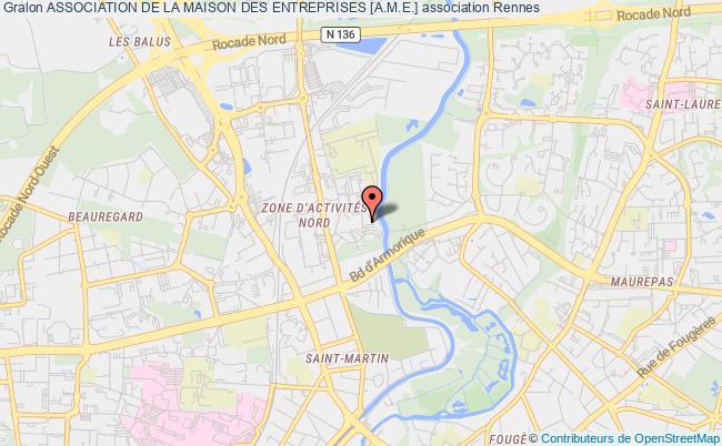 plan association Association De La Maison Des Entreprises [a.m.e.] Rennes Cedex