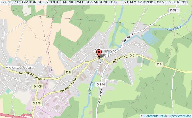 plan association Association De La Police Municipale Des Ardennes 08   - A.p.m.a. 08