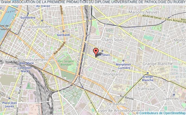 plan association Association De La Premiere Promotion Du Diplome Universitaire De Pathologie Du Rugby (ap2dur)