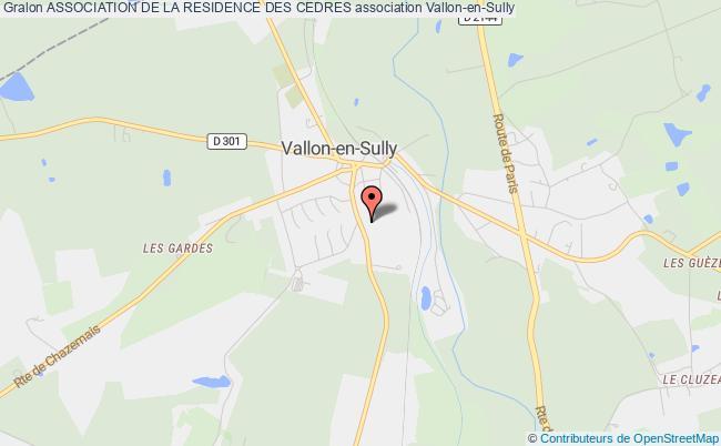 plan association Association De La Residence Des Cedres Vallon-en-Sully
