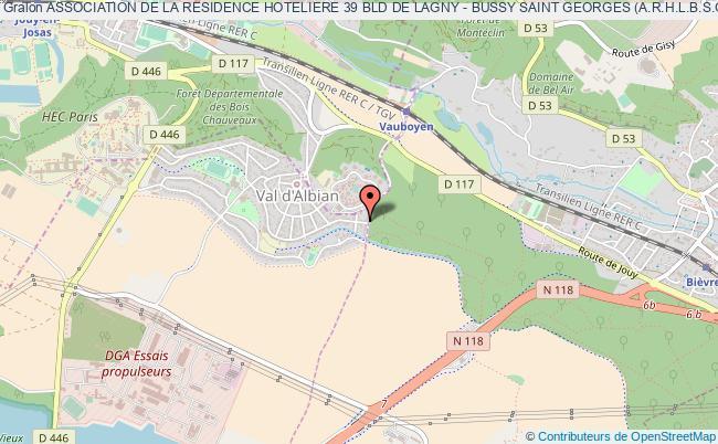 plan association Association De La Residence Hoteliere 39 Bld De Lagny - Bussy Saint Georges (a.r.h.l.b.s.g)