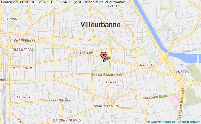 plan association Association De La Rue De France (arf)