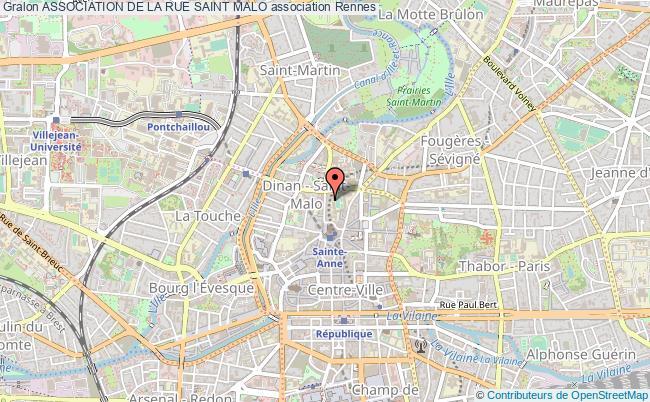 plan association Association De La Rue Saint Malo Rennes