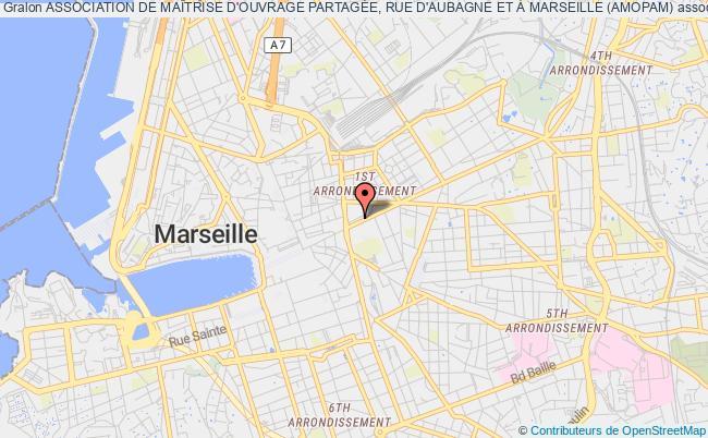 plan association Association De MaÎtrise D'ouvrage PartagÉe, Rue D'aubagne Et À Marseille (amopam)