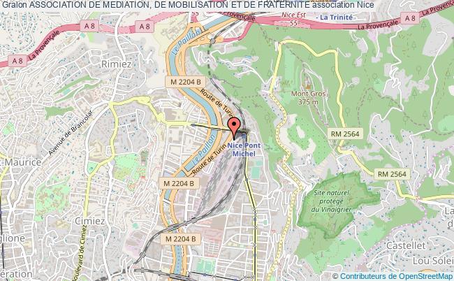 plan association Association De Mediation, De Mobilisation Et De Fraternite Nice