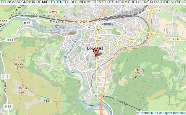 plan association Association De Midi-pyrenees Des Infirmieres Et Des Infirmiers Liberaux D'autodialyse (ampiilad) Lourdes