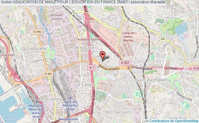 plan association Association De Mkazi Pour L'education En France (amef) Marseille