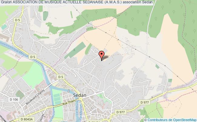 plan association Association De Musique Actuelle Sedanaise (a.m.a.s.)